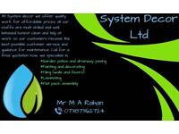 System Decor. Multi skilled tradesman for paving, painting, tiling, laminating, flat pack assembly