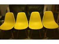 Eiffel eames style dining chairs x 4