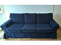 Ikea Ektorp Pixbo Sofa bed (kingsize) also have matching 3 seater sofa (separate ad)