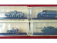 4 die cast collectable tanks
