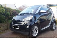 Beautiful Smart Car, Black, passion for two, High Specification car only £20 tax