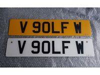 VW Golf Number Plate Mk4 Mk5 Mk6 Mk7 R32 GTI GTD Anniversary ED30 Private Cherished Registration
