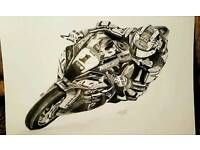Jonathan Rea Kawasaki world superbike print