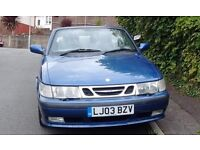 For Sale 2003 SAAB 9-3 SE Convertible £450