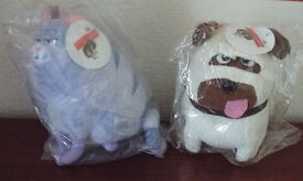 Secret Life Of Pets Plush Soft Toy - Chloe (Cat) and Mel (Pug)