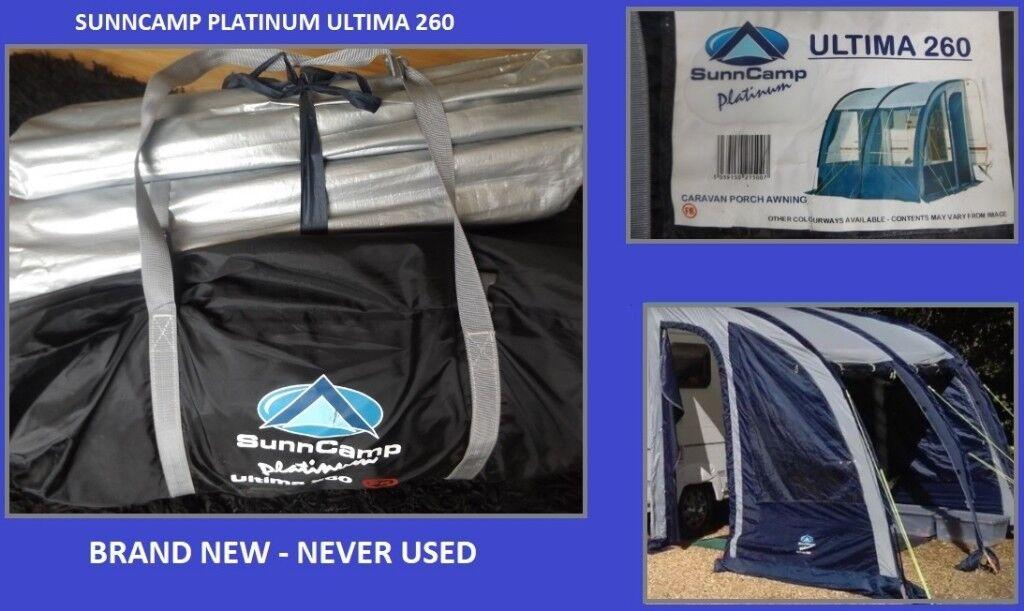 Caravan Awning Sunncamp Platinum Ultima 260 Porch Awning Brand New