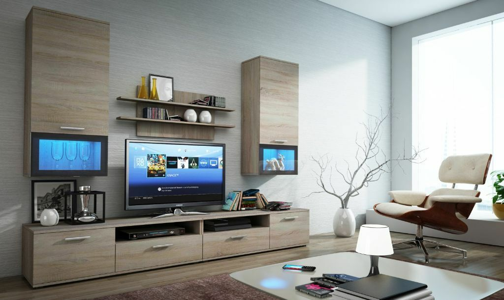 Delightful TV Cabinet / TV Wall Unit / TV Stand With LED U0027s / Modern Living Part 23