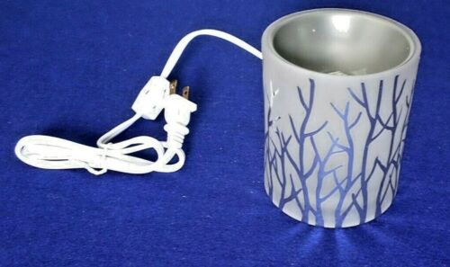 Yankee Candle Silver Winterscape Electric Tart Burner - NEW in Original Box