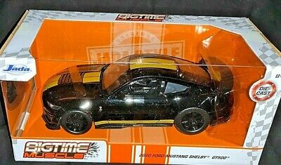 JADA 2020 1/24 DIE CAST BIGTIME MUSCLE 2020 BLACK FORD MUSTANG SHELBY GT500 NEW!