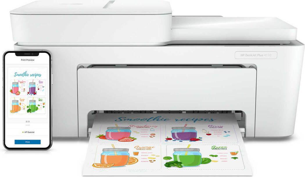 Hp imprimante tout-en-un deskjet plus 4110 comme neuf
