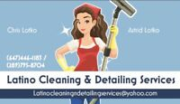 Latino cleaning & detailing services home apartments cars