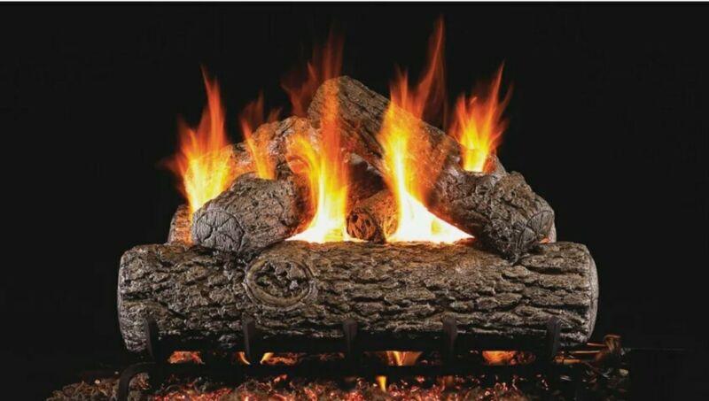 "Peterson Real Fyre Golden Oak 24"" Vented Gas Log Natural Gas R-24"