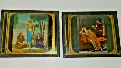 RARE 1914 SIGN OF THE CROSS MAGIC LANTERN SILENT MOVIE GLASS SLIDES 100+ YEARS