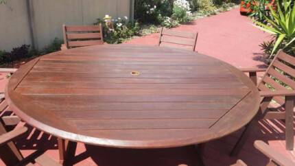 HARDWOOD KWILA OUTDOOR SETTING 1800mm OUTDOOR Table & Chairs Coombabah Gold Coast North Preview