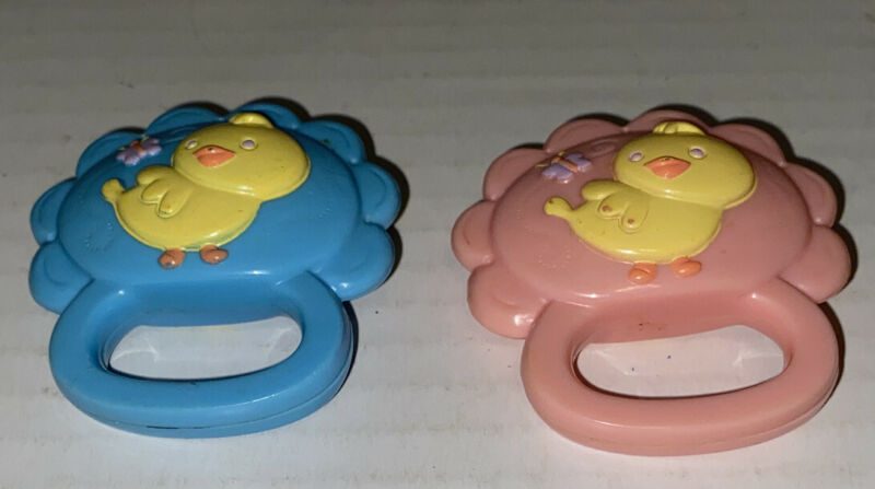 Baby Alive Pink Blue Duck Rattle Doll Toy Wets Wiggles