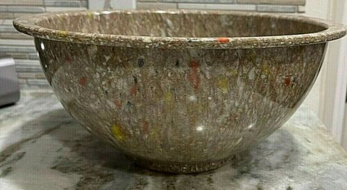Vintage Texas Ware Mixing Brown Bowl 125 Confetti Splatter Speckle Melmac New