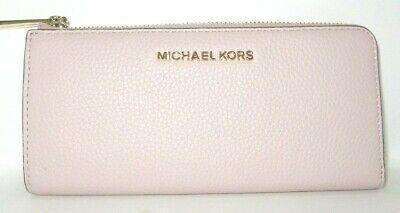 Michael Kors Jet Set Travel Large Three Quarter Zip Ballet Pink Wallet NWT $188