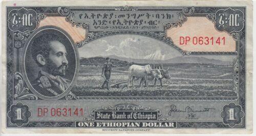 Ethiopia Banknote P. 12b-3141 1 Dollar Sig Bennett, VF WE COMBINE