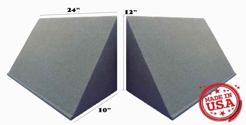 2 PACK, TriAmp Corner Acoustic Bass Trap for Studio Soundproofing 10 x 12 x 24