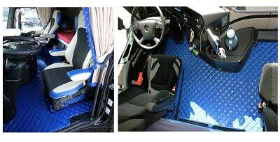 Mercedes MB Actros MP4 Automat Schmales Fahrerhaus Passform Fußmatten  Blau