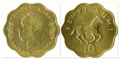 Tanzania 1981 10 Senti Uncirculated (KM11)