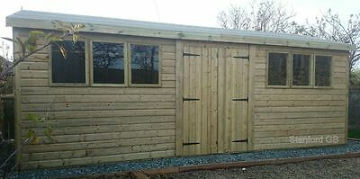 20x10 19mm Tanalised Workshop FREE DELIVERY WITHIN 30 MILES & FREE INSTALL