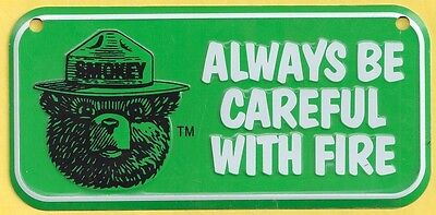 US USFS Forest Service NEW Smokey Bear Green Bicycle License Plate Metal Sign