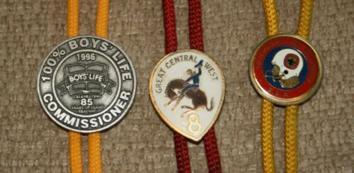 3 Vintage Boy Scout Bolo Ties
