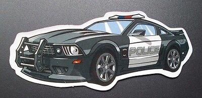 STICKER AUFKLEBER POLICE CAR GLANZ OPTIK STICKERBOMB SKATEBOARD LAPTOP
