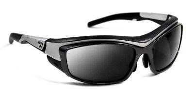 7eye Rocker Interchangeable SV Sunglasses, Silver Frame, Gray/Clear 4954P1