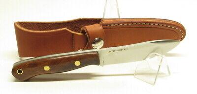 Bark River Knives Mini-Aurora Hunter,3V, Desert Ironwood #2 BlackLiner Brass Pin