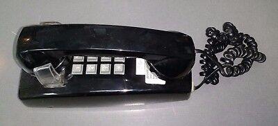 Vintage Cortelco Itt 255400-vba-20m Black Single Line Analog Corded Wall Phone