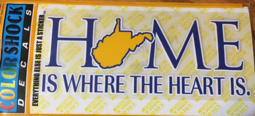 West Virginia Decal Home is Where the Heart is.