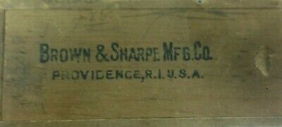 Brown And Sharpe Micrometer Caliper In Box Vintage