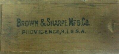 Brown And Sharpe Micrometer Caliper In Box Vintage