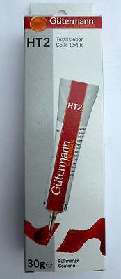 Gütermann HT2 Textilkleber 30g, Allzweckkleber für Haushalt und Hobby