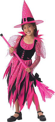 Barbie Sweet Sorceress Witch Black Pink Cute Dress Up Halloween Child Costume (Dress Up Halloween Barbie)