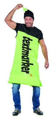 Textmarker gelb Unisex Filzschreiber Tunika Kostüm - Textmarker Kostüm