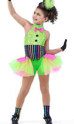 Showtime Jazz Tap Ballet Dance Costume Clown Tutu Child XS, CM, AL, AXL USA - Clown Tutu