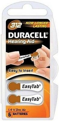 Duracell Activair Hearing Aid Batteries Size 312  40 With Free Batttery Caddie