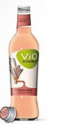 Schorle Flasche (12 Flaschen a 300ml Vio Rhabarber Schorle inclusive MEHRWEG Pfand Glas )