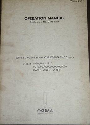 Okuma Cnc Lathes Lb10 Lb15 Lp15 Lc10 Lc20 Lc30 Lc40 Lc50 Ls30-n Manual