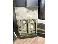 8Nr Canvas Prints of the Yorkshire Dales, Embsay Train Station, Ribblehead Viaduct, Bolton Abbey