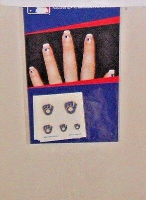 MLB MILWAUKEE BREWERS 20  FINGERNAIL TATTOOS DECALS FAST FREE SHIPPING