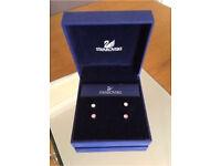Swarovski diamond earring studs (Pink and clear diamonds)