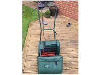 Lawn Mower Atco 12s Windsor - 340w motor - 75ft cable, with a spare wooden roller