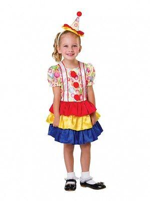 Clown Girl Toddler 2-3 Years Old Halloween Cutie Fancy Dress Costume