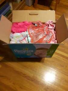 Box of 9 month baby girl clothes