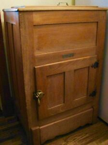 Antique Farmhouse Kitchen Arctic Ice Box Solid Ash Wood Original Kitchener / Waterloo Kitchener Area image 3