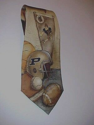 Eagles Wings NCAA Big Ten Purdue Boilermakers 100% Silk  Men's Gold - Eagles Wings Purdue Boilermakers Necktie